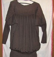 платье для беременных коричневое
